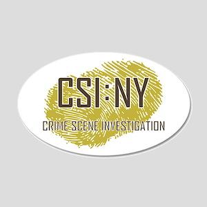 CSI : NY 20x12 Oval Wall Decal