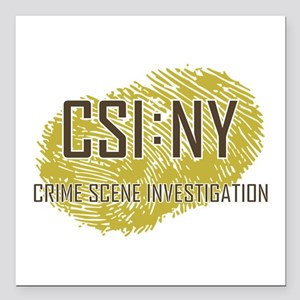 "CSI : NY Square Car Magnet 3"" x 3"""