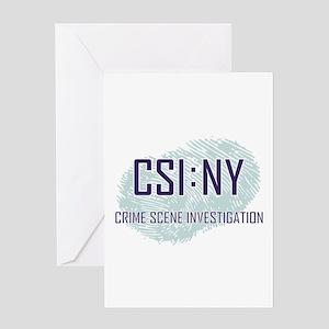 CSI : NY Greeting Card