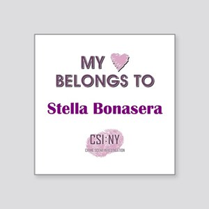 "STELLA BONASERA Square Sticker 3"" x 3"""