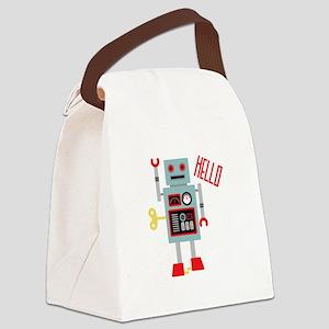 Robot Hello Canvas Lunch Bag