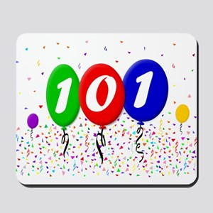 101st Birthday Mousepad