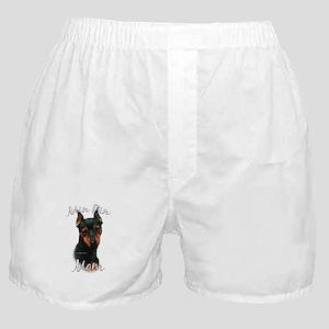 Min Pin Mom2 Boxer Shorts