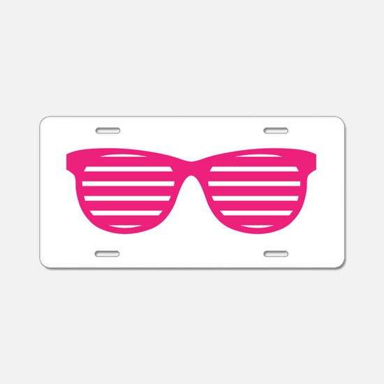 Goggles Aluminum License Plate