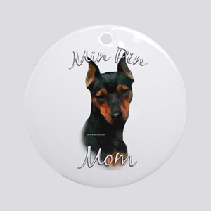 Min Pin Mom2 Ornament (Round)