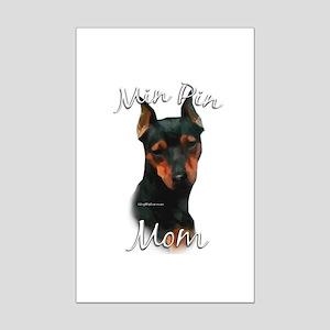 Min Pin Mom2 Mini Poster Print