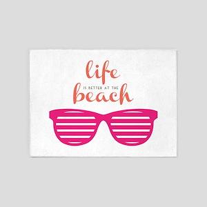 Life At Beach 5'x7'Area Rug
