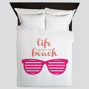 Life At Beach Queen Duvet