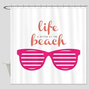 Life At Beach Shower Curtain