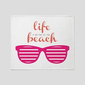 Life At Beach Throw Blanket