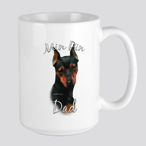 Min Pin Dad2 Large Mug