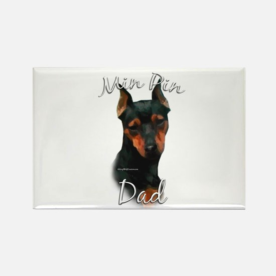 Min Pin Dad2 Rectangle Magnet