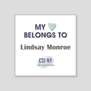 "LINDSAY MONROE Square Sticker 3"" x 3"""
