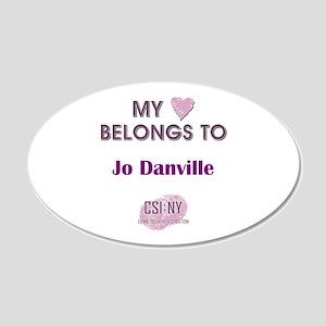 JO DANVILLE 20x12 Oval Wall Decal