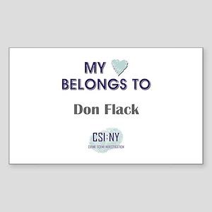 DON FLACK Sticker (Rectangle)