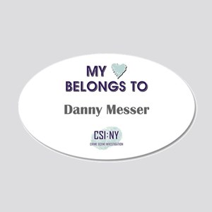 DANNY MESSER 20x12 Oval Wall Decal