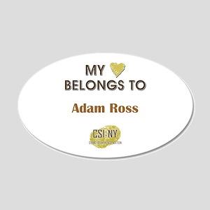ADAM ROSS 20x12 Oval Wall Decal
