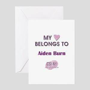 AIDEN BURN Greeting Card