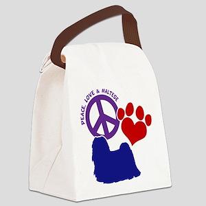 P, L, MALTESE Canvas Lunch Bag