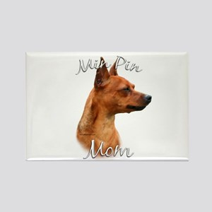 Min Pin Mom2 Rectangle Magnet