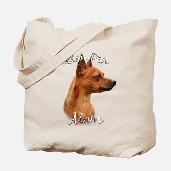 Min Pin Mom2 Tote Bag