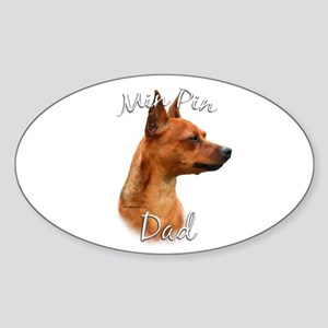 Min Pin Dad2 Oval Sticker
