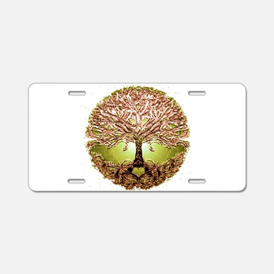 Funny Tree Aluminum License Plate