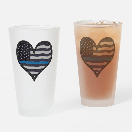 Thin blue line Drinking Glass