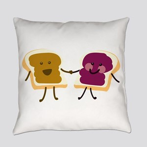 Peanutbutter and Jelly Everyday Pillow