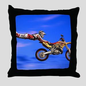 Motocross Freestyle Throw Pillow