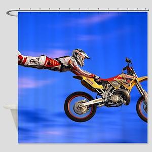 Motocross Freestyle Shower Curtain