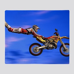 Motocross Freestyle Throw Blanket