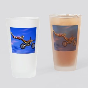 Motocross Freestyle Drinking Glass