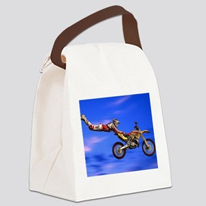 Motocross Freestyle Canvas Lunch Bag