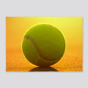 Tennis Ball 5'x7'Area Rug