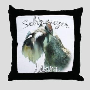 Mini Schnauzer Mom2 Throw Pillow