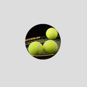 Tennis Balls And Racquet Mini Button