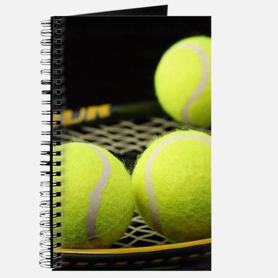 Tennis Balls And Racquet Journal