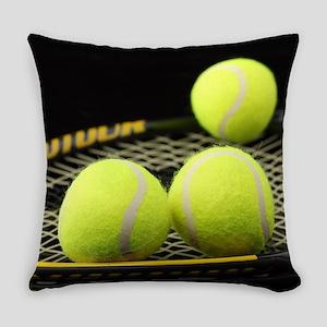 Tennis Balls And Racquet Everyday Pillow