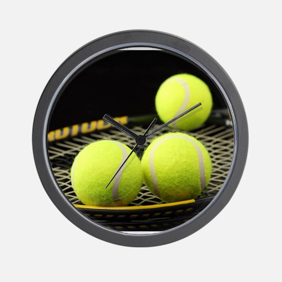 Tennis Balls And Racquet Wall Clock