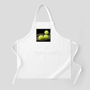 Tennis Balls And Racquet Apron