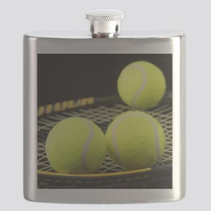 Tennis Balls And Racquet Flask