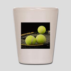 Tennis Balls And Racquet Shot Glass