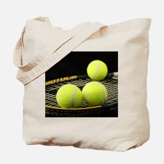 Tennis Balls And Racquet Tote Bag