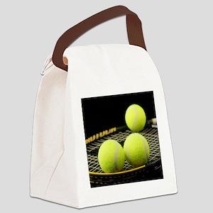 Tennis Balls And Racquet Canvas Lunch Bag