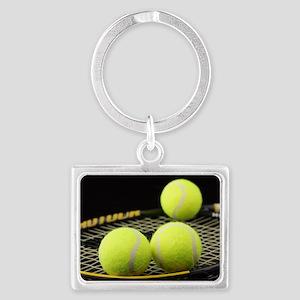 Tennis Balls And Racquet Keychains