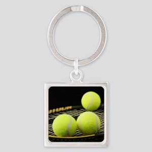 Tennis Balls And Racquet Keychains