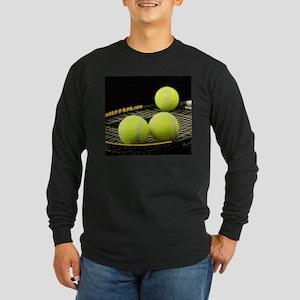 Tennis Balls And Racquet Long Sleeve T-Shirt
