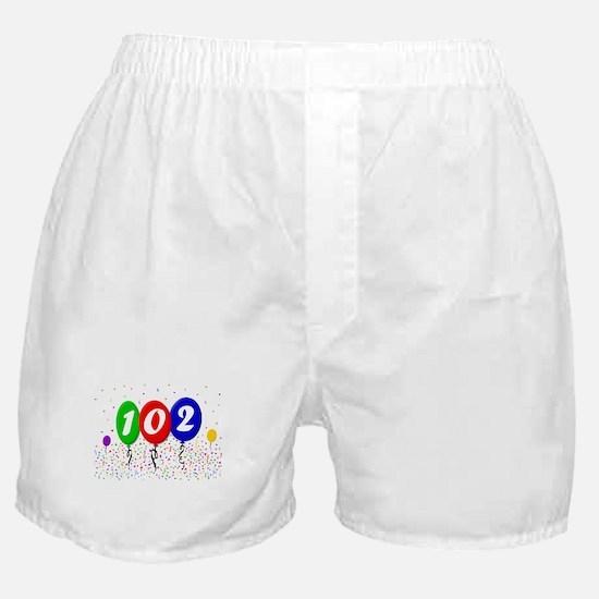 102nd Birthday Boxer Shorts