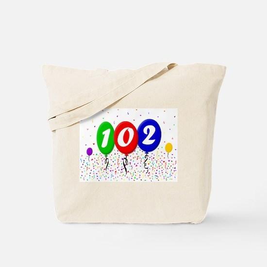 102nd Birthday Tote Bag